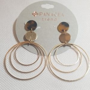 NWT Panacea Gold and Tortoise Earrings